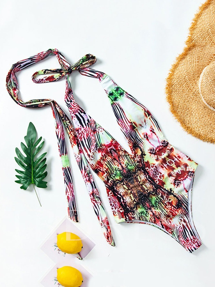African Fashion Dashiki Print One Piece Sexy Women's Swimwear