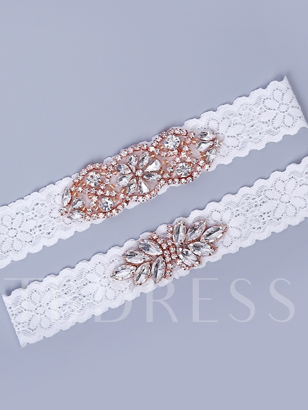 Beading Floral Lace Lace Wedding Garters