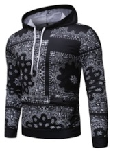 Christmas Pullover Print Color Block Men's Hoodies