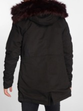 Mid-Length Hooded Color Block Casual Men's Down Jacket