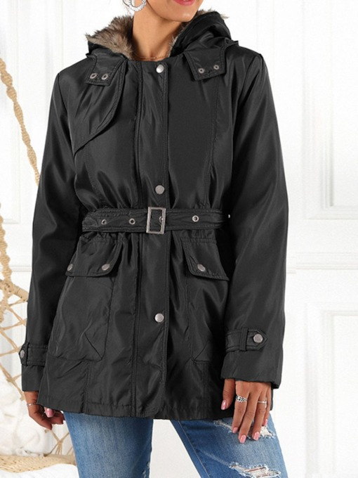 Single-Breasted Loose Mid-Length Women's Cotton Padded Jacket