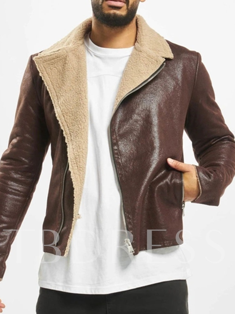 Patchwork Lapel Casual Men's Jacket