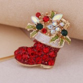 Christmas Alloy European Rhinestone Brooches