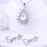 Diamante Necklace Wedding Jewelry Sets
