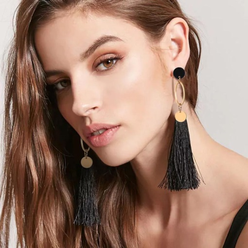 Alloy Tassel European Drop Earrings