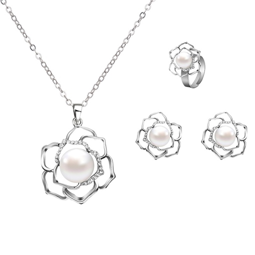 Diamante Geometric European Jewelry Sets (Wedding)