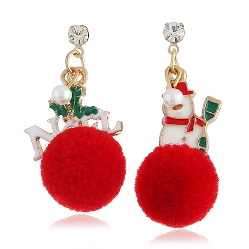 Christmas European E-Plating Alloy Drop Earrings