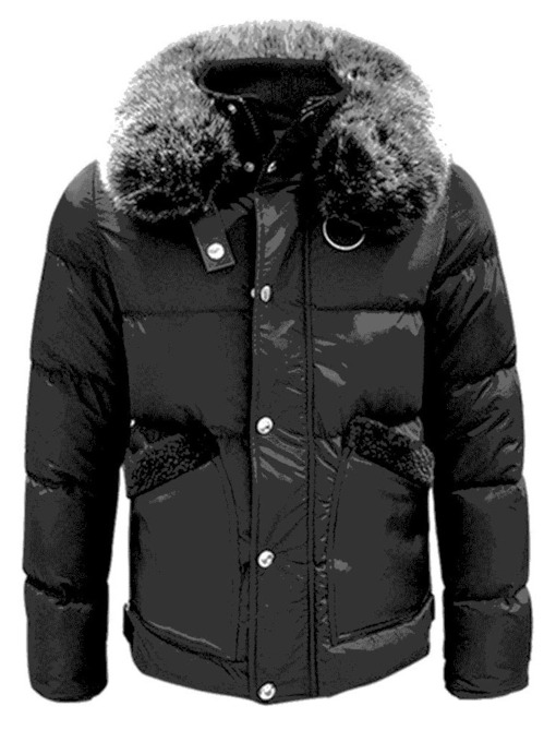 Stand Collar Standard Pocket Casual Men's Down Jacket