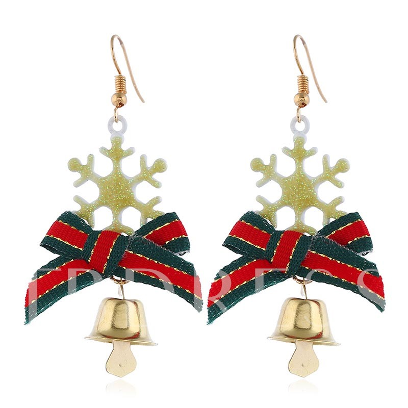 Sweet Bowknot E-Plating Christmas Prom Earrings