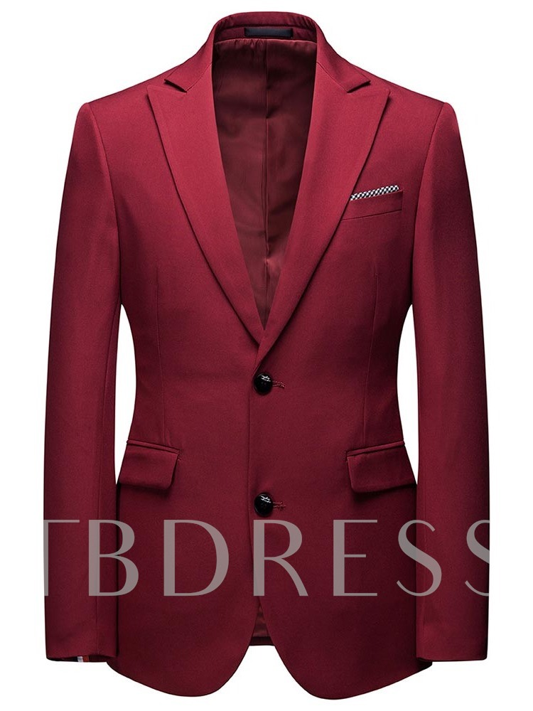 Blazer Formal Single-Breasted Button Men's Dress Suit