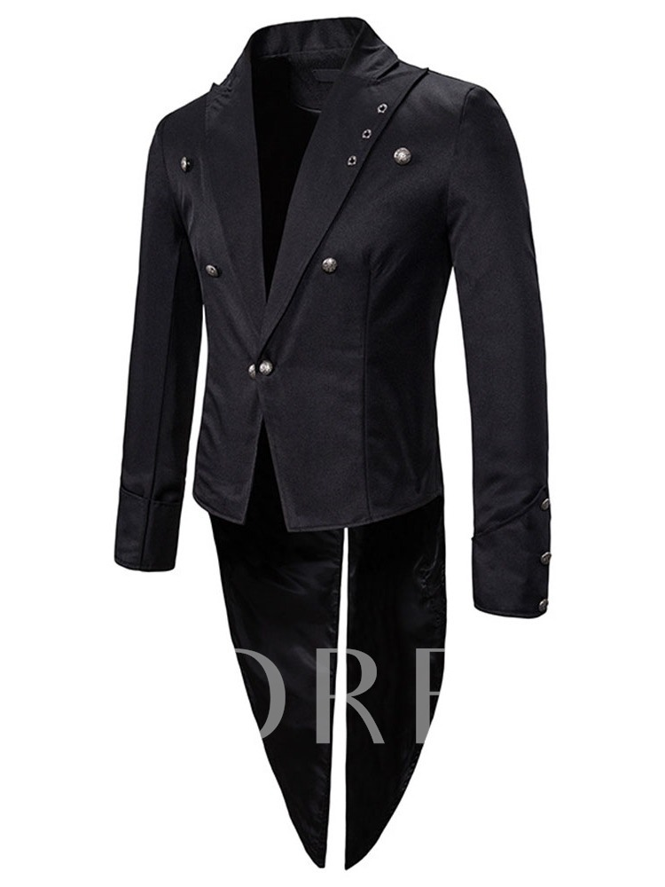 Notched Lapel Slim Patchwork Casual Men's Leisure Blazers