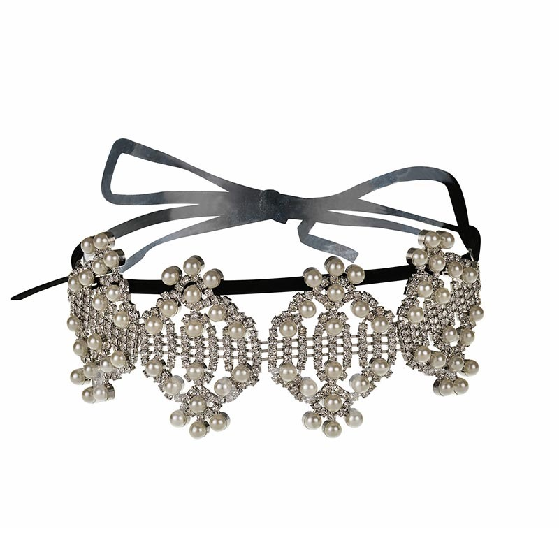European Diamante Prom Choker Necklace
