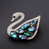 Alloy European Swan Brooches