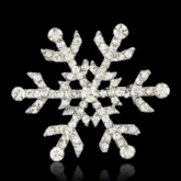 Christmas Romantic Snowflake Brooches