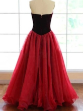 V-Neck Strapless Ball Gown Prom Dress 2019