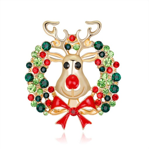 Christmas European Alloy Dear Brooches