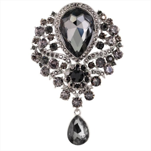 Alloy Water Drop Vintage Brooches