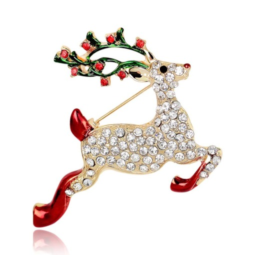 Christmas Alloy European Dear Brooches