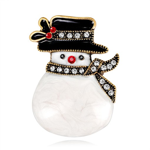 Christmas Alloy European Snowman Brooches