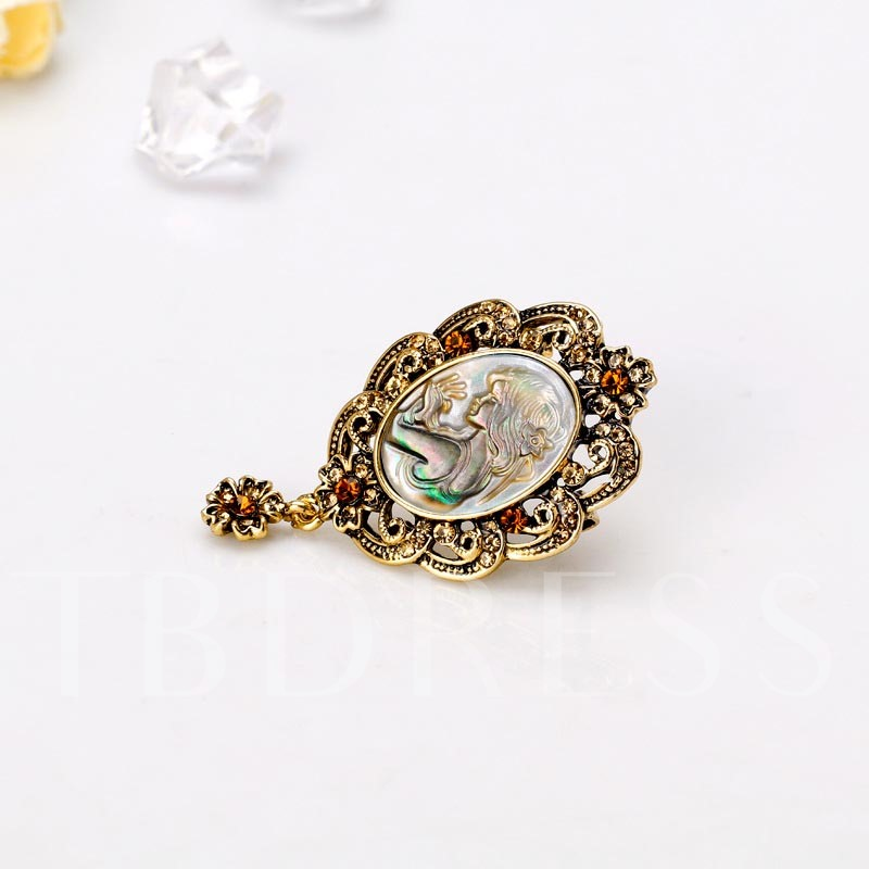 European Alloy Figure Vintage Brooches