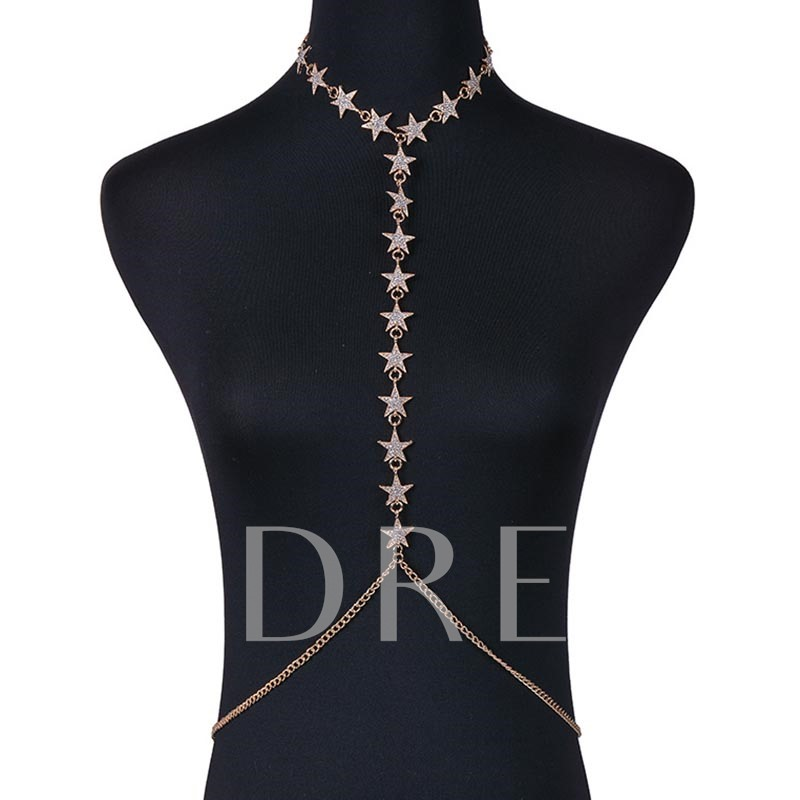 Star Diamante Pendant Necklace