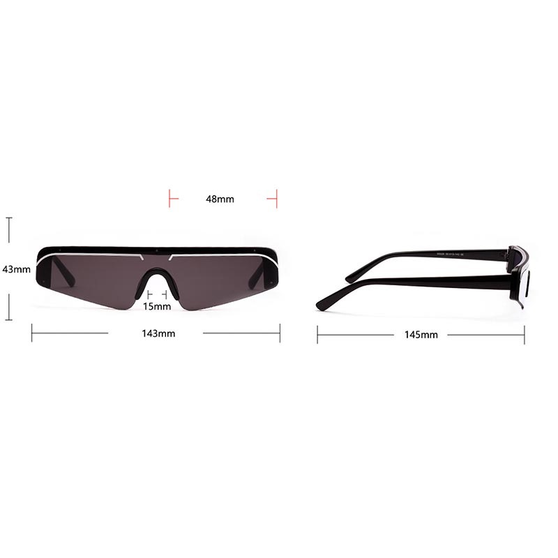 Poly Carbonate Fashion Rimless Sunglasses