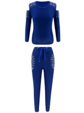 Bead Casual Pullover Women's Two Piece Sets