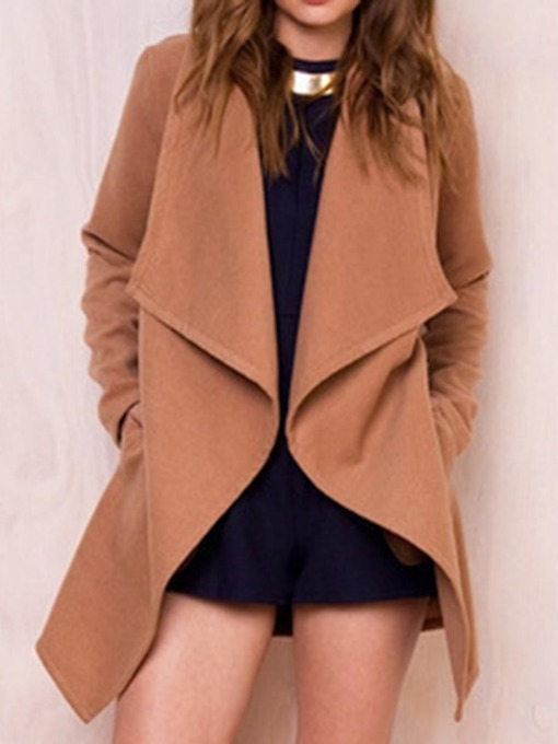 Wrapped Loose Mid-Length Women's Overcoat