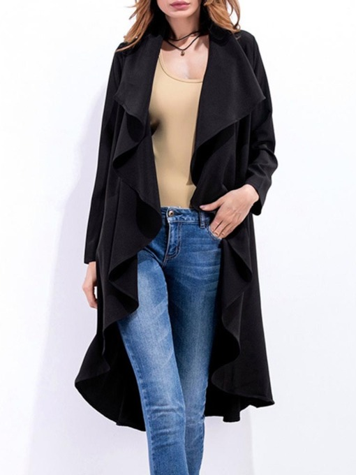 Long Casual Women's Trench Coat