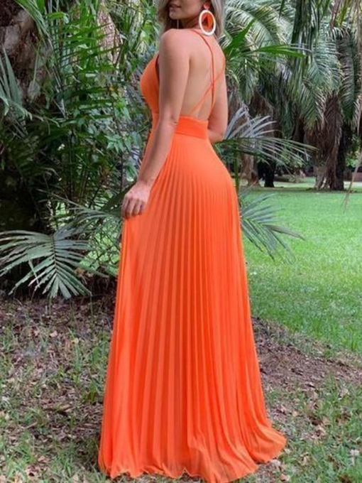 Criss-Cross Straps Ruched Long Prom Dress