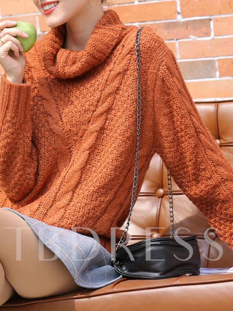 Regular Thick Turtleneck Women's Sweater