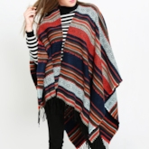Imitation Cashmere Stripe Women's Shawl Scarves
