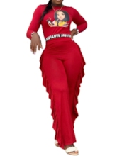 Cartoon Full Length Mid Waist Women's Jumpsuit