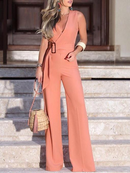 Full Length Office Lady Slim Women's Jumpsuit