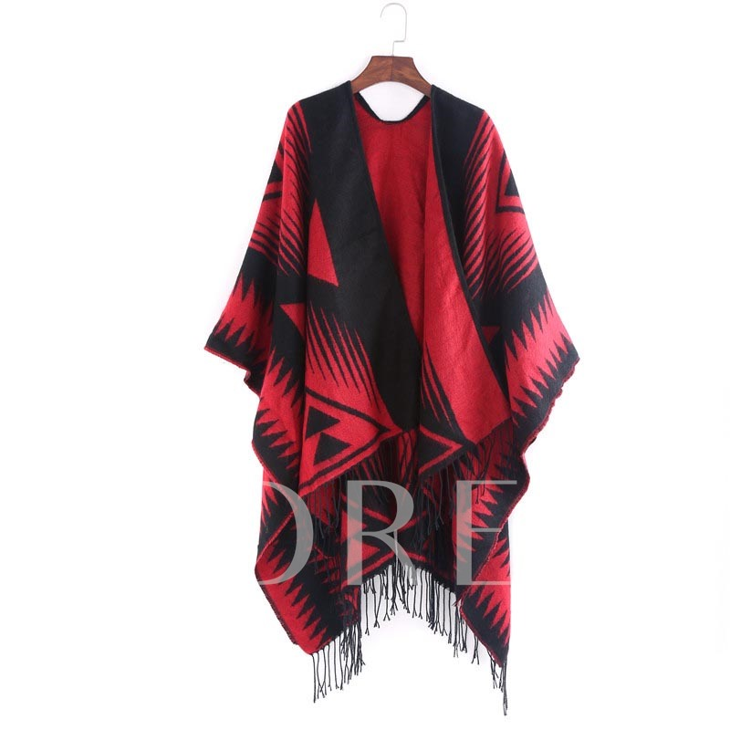 Casual Imitation Cashmere Print Geometric Pattern Scarves