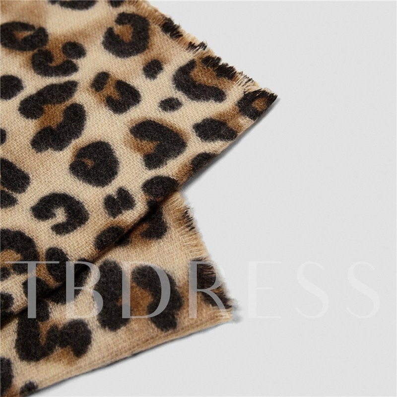 Leopard Print Fashion Winter Women's Scarves