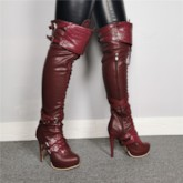 Side Zipper Round Toe Vintage Customized Knee High Boots