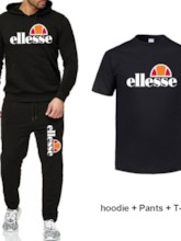 Letter With Hood Softshell Pants Male Full Length Cotton Clothing Sets
