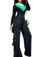 Casual Full Length Slim Women's Jumpsuit