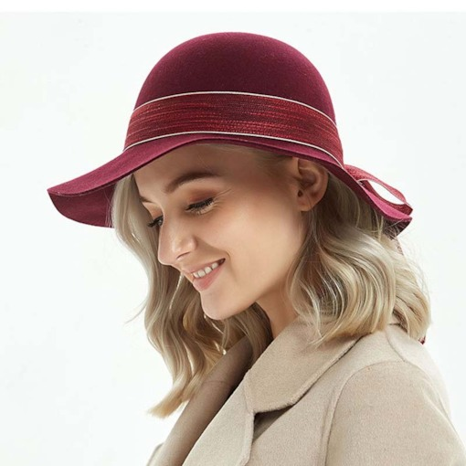 British Wool Blends Elegant Women's Fedora Hat