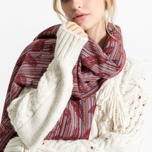 Print Casual Imitation Cashmere Stripe Women's Scarves
