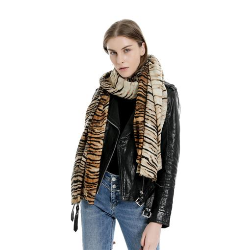 Tiger Print Acrylic Winter Women's Scarves