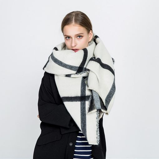 Imitation Cashmere Plaid Winter Women's Scarves
