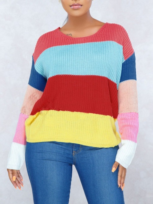 Regular Round Neck Fashion Warm Women's Sweater