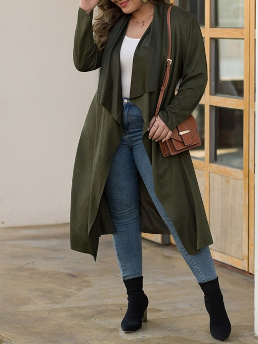 Long Casual Slim Women's Trench Coat
