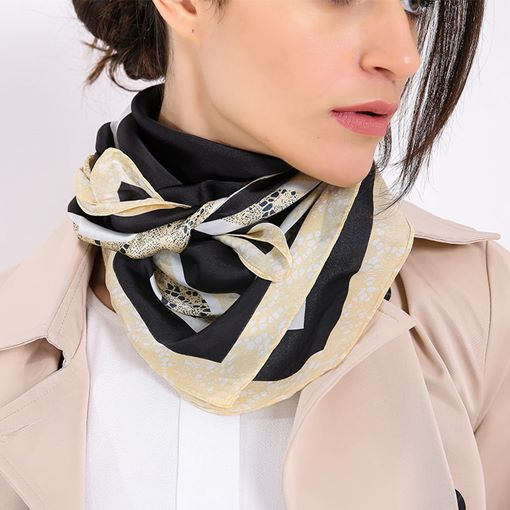 Charmeuse Square Fashion Women's Scarves