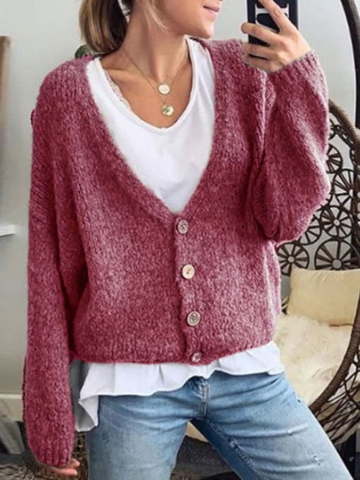 Button Regular Women's Sweater