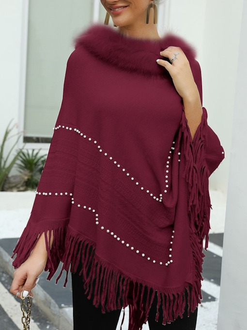 Casual Polyester Plain Women's Cape