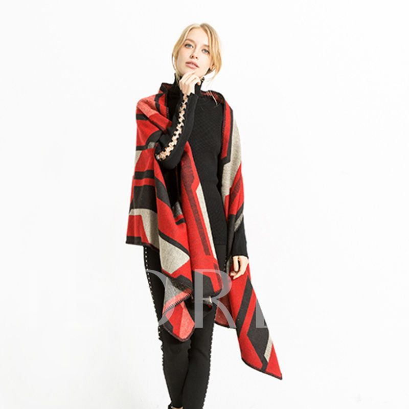Acrylic Fashion Color Block Women's Shawl Scarves