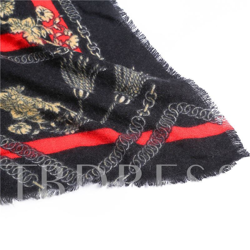Acrylic Geometric Pattern Women's Scarves